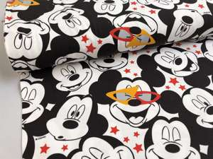 Bomuldsjersey - med mickey mouse