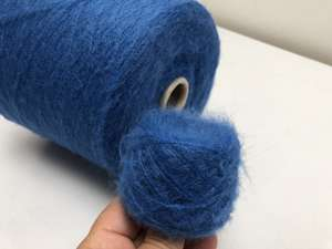 Kid mohair - peacock blue