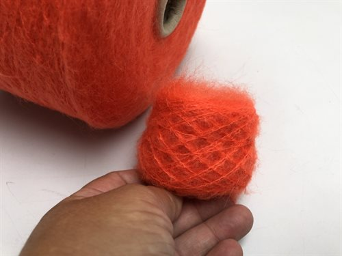 Kid mohair - neon orange
