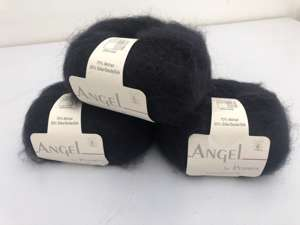 Angel by permin silk mohair - i smuk sort