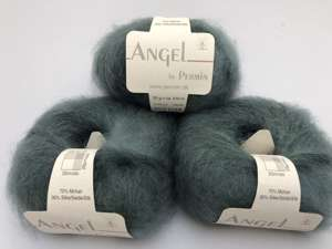 Angel by permin silk mohair - i smuk blid aquamarin