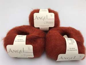 Angel by permin silk mohair - i smuk marsala