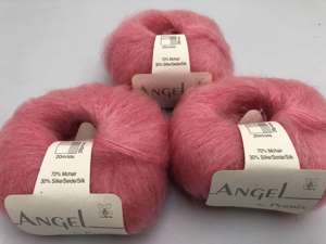 Angel by permin silk mohair - i smuk bubblegum