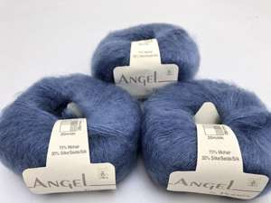 Angel by permin silk mohair - i smuk blue berry