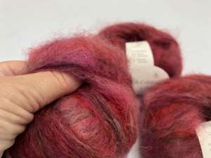 Bella by permin chunky mohair - smuk changerende i varme toner