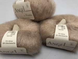 Angel by permin silk mohair - i smuk pudder