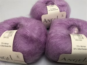 Angel by permin silk mohair - i smuk pastel lilla