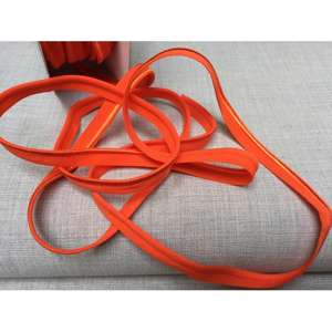 Tittekant/ piping - orange, elastisk