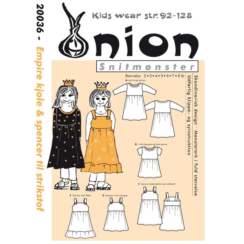 976cf6554c9 ONION børn - Empire kjole & spencer til strikstof